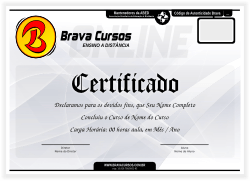 Modelo do certificado