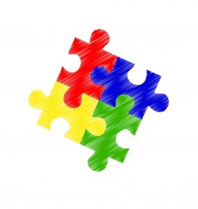 Autism spectrum puzzle pieces