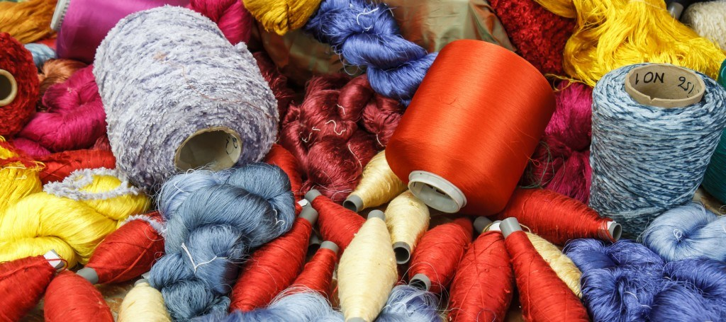 Raw silk thread color for background.